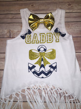 Personalized Fringe Tank With Anchor Design