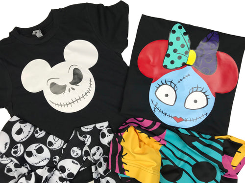 Sally Minnie, Jack Skellington, Mickey Boys Men, Personalized, Halloween, NIGHTMARE BEFORE CHRISTMAS, Disney, Mickey's Not So Scary Halloween PartyI