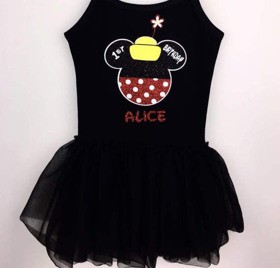 Disney Minnie Personalized Birthday Tee or Tank with Age