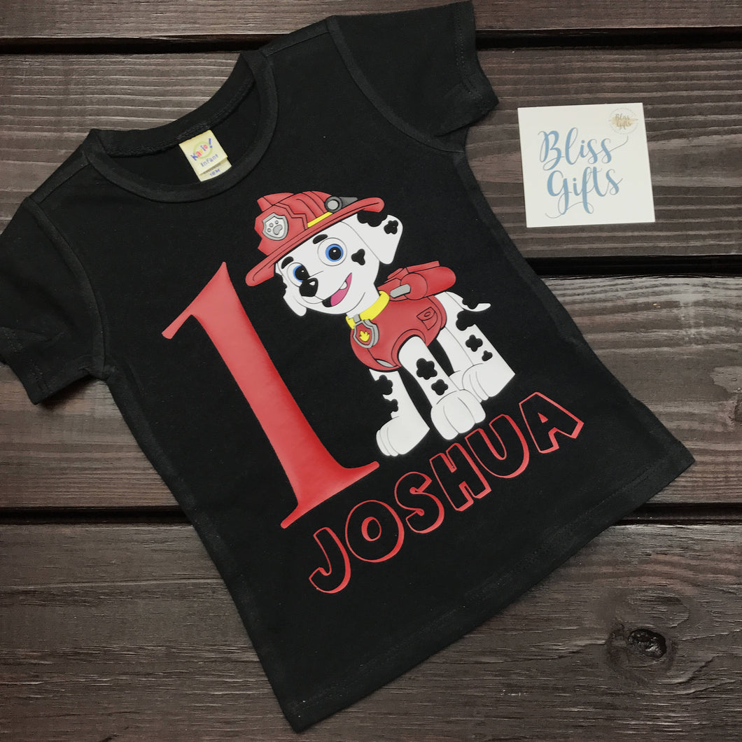Customized Paw Patrol Birthday Shirt With Name And Age