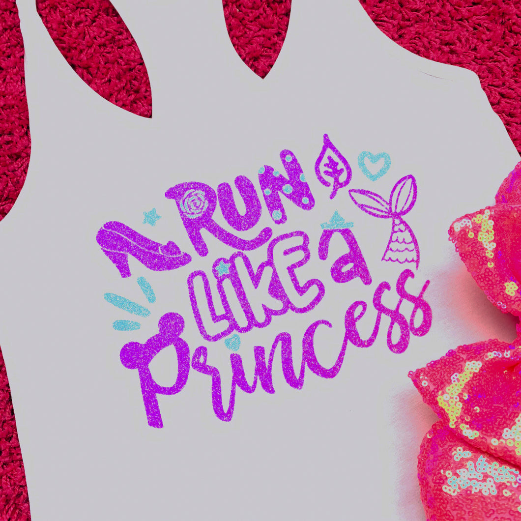 Run Like A Princess Marathon Running - in Purple and Blue