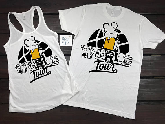 Funny Disney Shirt | Disney Food And Wine | Food And Wine Shirts | Epcot Food And Wine | Disney Group Shirts | Disney Couple Shirts | EPCOT, Drinking World tour