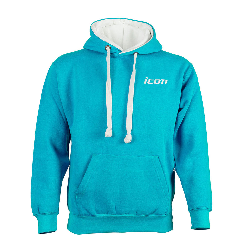 Load image into Gallery viewer, New! Unisex ICON Embroidered Premium Contrast Hoodie