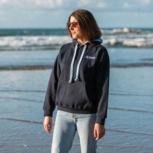New! Unisex ICON Embroidered Premium Contrast Hoodie
