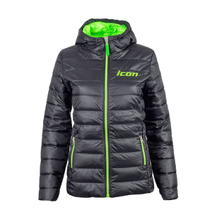 New! Women's ICON Embroidered Quilted Hooded 'Puffer' Jacket