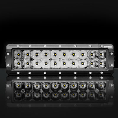 8 INCH ST4K 12 LED DOUBLE ROW LIGHT BAR