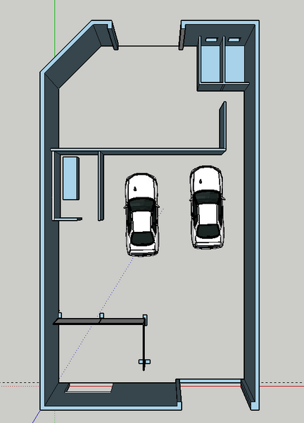 Current Sketchup layout for new shop