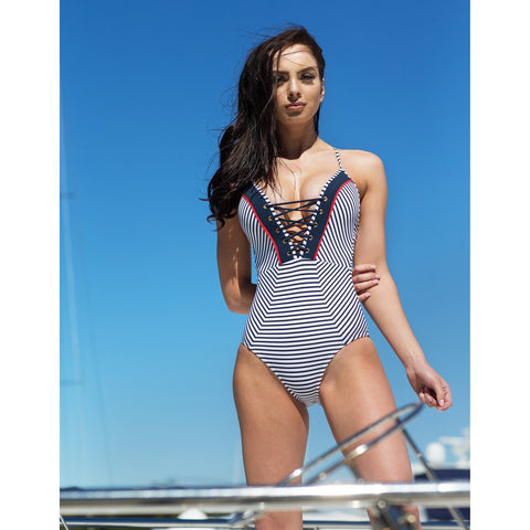 Now on Sale - Jets Swimwear Yacht Life One Piece Swimsuit