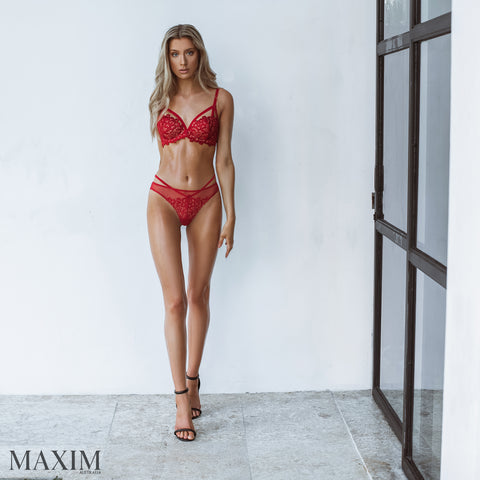 SALE - Red Dahlia Balconnet Bra - As seen in MAXIM
