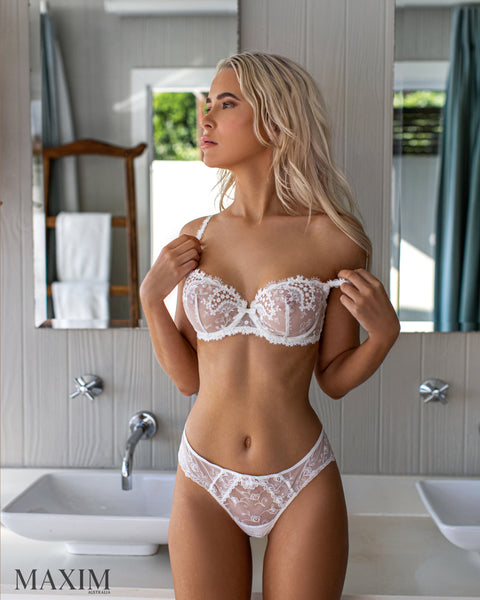 Wish Sheer Half Cup - As seen in MAXIM - Ivory