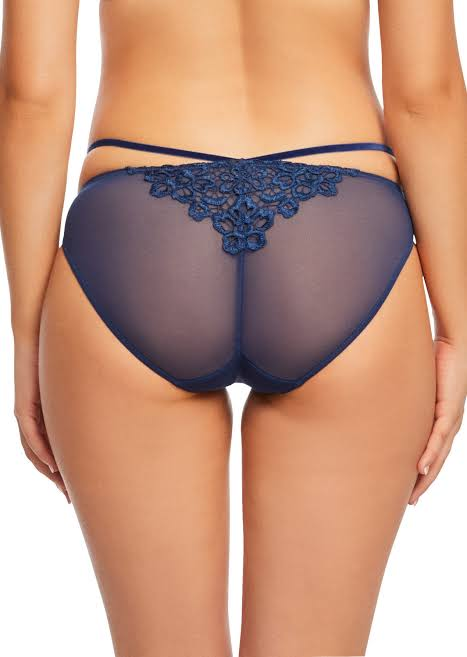 SALE - Midnight Blue Dahlia Brief