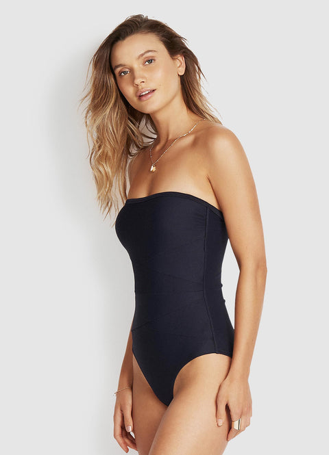 Now on Sale - Milea by Seafolly - Mini Rib Bandeau One Piece