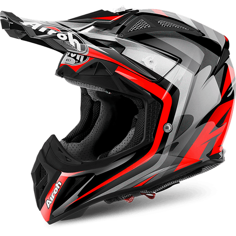 Casco AIROH OFF ROAD Aviator 2.2 Warning  Red Gloss
