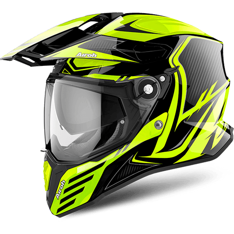 Casco AIROH COMMANDER CARBON YELLOW GLOSS