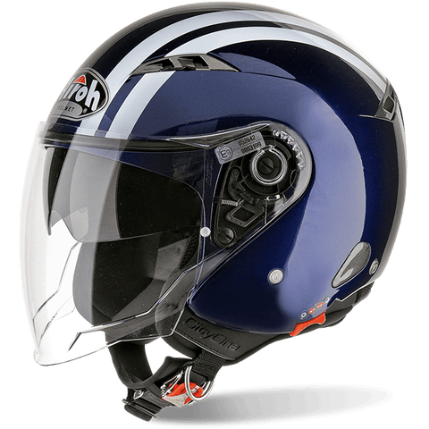 Casco AIROH URBAN JET City One Flash Dark Blue Gloss