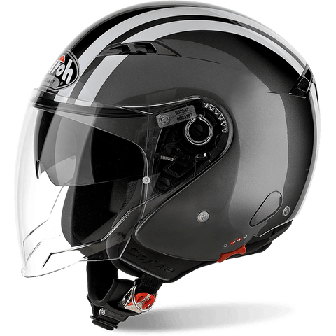 Casco AIROH URBAN JET City One Flash Anthracite Gloss