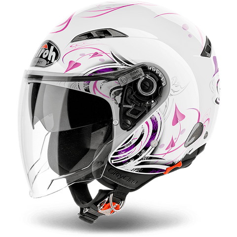 Casco AIROH URBAN JET City One Heart  White Gloss
