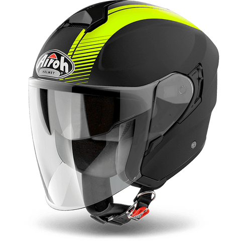 Casco AIROH URBAN JET Hunter  Simple  Yellow Matt