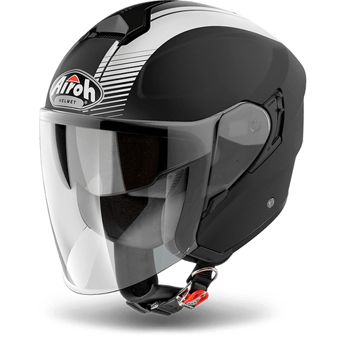 Casco AIROH URBAN JET Hunter  Simple  Black Matt