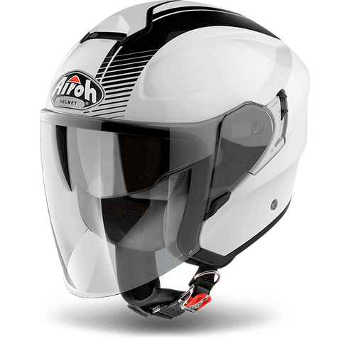 Casco AIROH URBAN JET Hunter  Simple  White Gloss