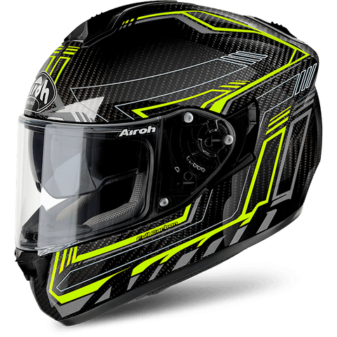 Casco AIROH ST 701 SAFETY FULL CARBON YELLOW GLOSS