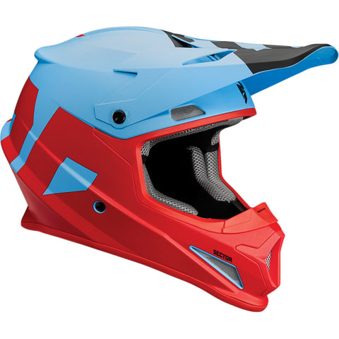 Casco THOR SECTOR LEVEL S8 OFFROAD HELMET BLUE/RED MATTE