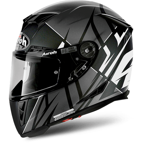 Casco AIROH GP500 SECTORS WHITE MATT