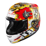 Casco ICON AIRMADA MONKEY BUSINESS HELMET RED/YELLOW