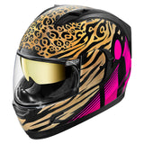 Casco ICON ALLIANCE  GT SHAGUAR  HELMET PINK/GOLD