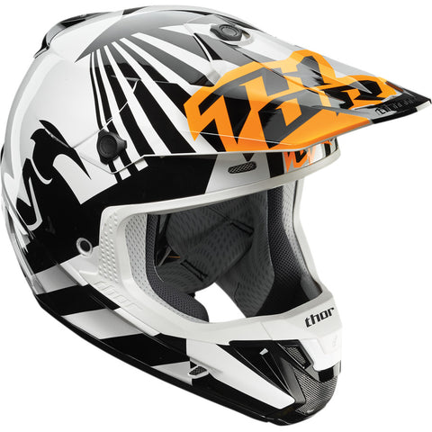 Casco THOR VERGE DAZZ S7 OFFROAD FLO ORANGE/WHITE