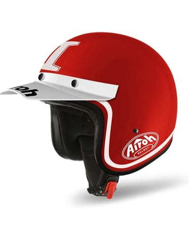 Casco AIROH Six Days Trophy  Color  Red Gloss