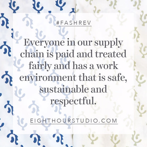 Ethical supply change. Sustainable production. One of our values.