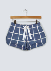 Navy Square Organic Cotton Shorts