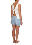 Dawn Cotton Shorts - Blue