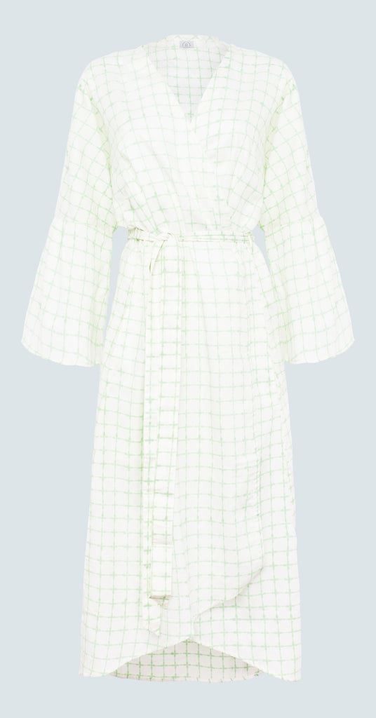 Pastel Green Cross Robe