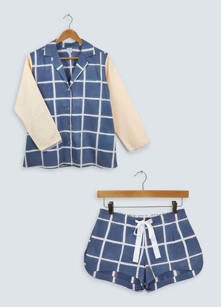 Gift Set - Navy Square Blazer & Shorts