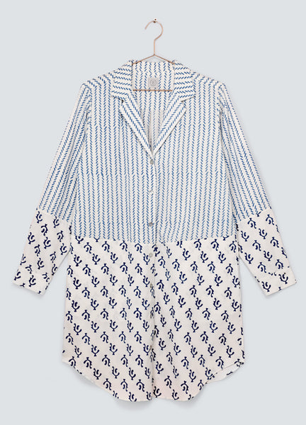 Dawn Shirt Dress - Blue