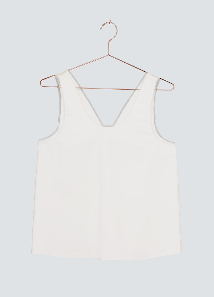 Dawn Open Back Tank Top - White