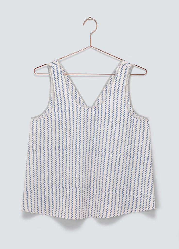 Dawn Open Back Tank Top - Blue