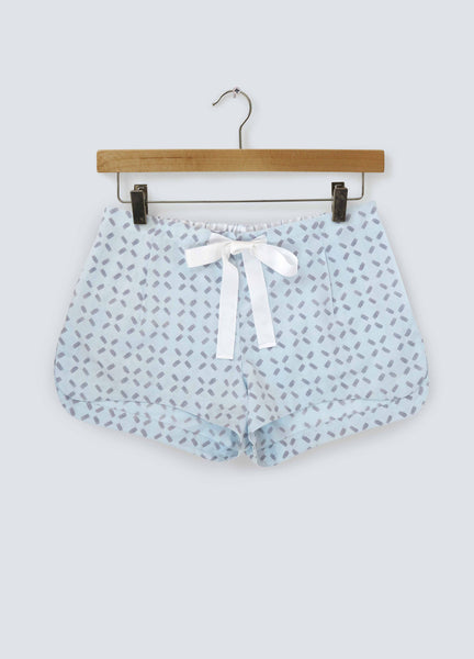 Noughts & Crosses Cotton Shorts - Sky Grey