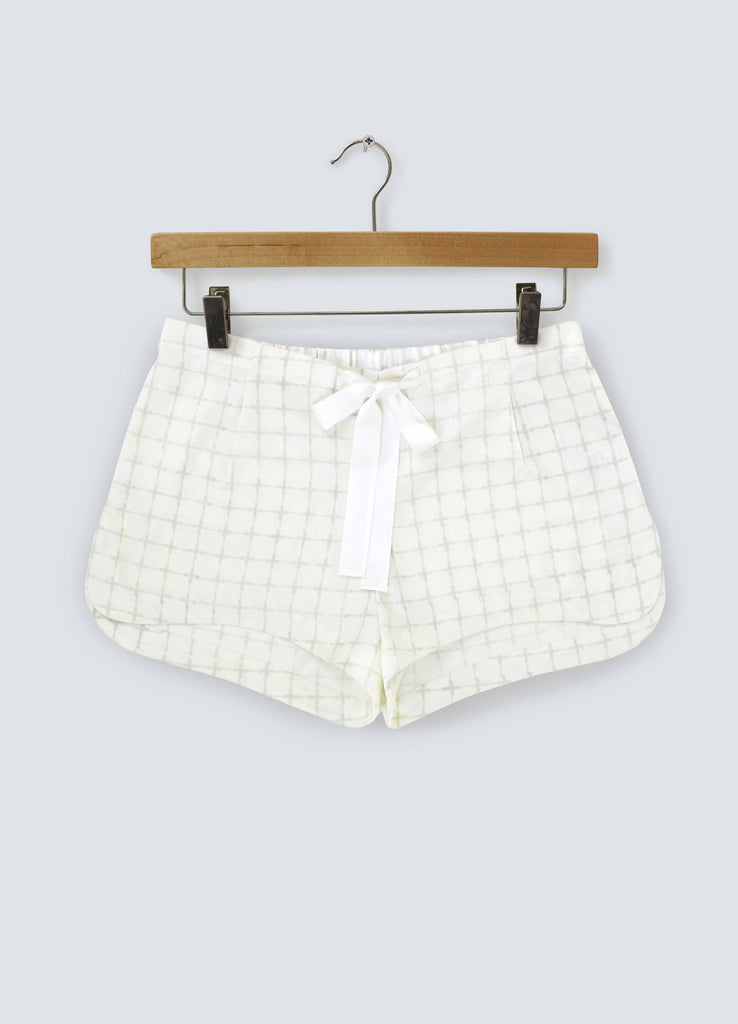 Pastel Green Cross Cotton Shorts