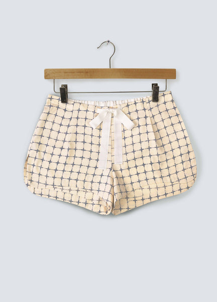 Noughts & Crosses Cotton Shorts - Navy Cross