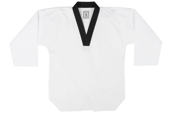 IKKEN Taekwondo Premium Basic Dobok Uniform | White & Black