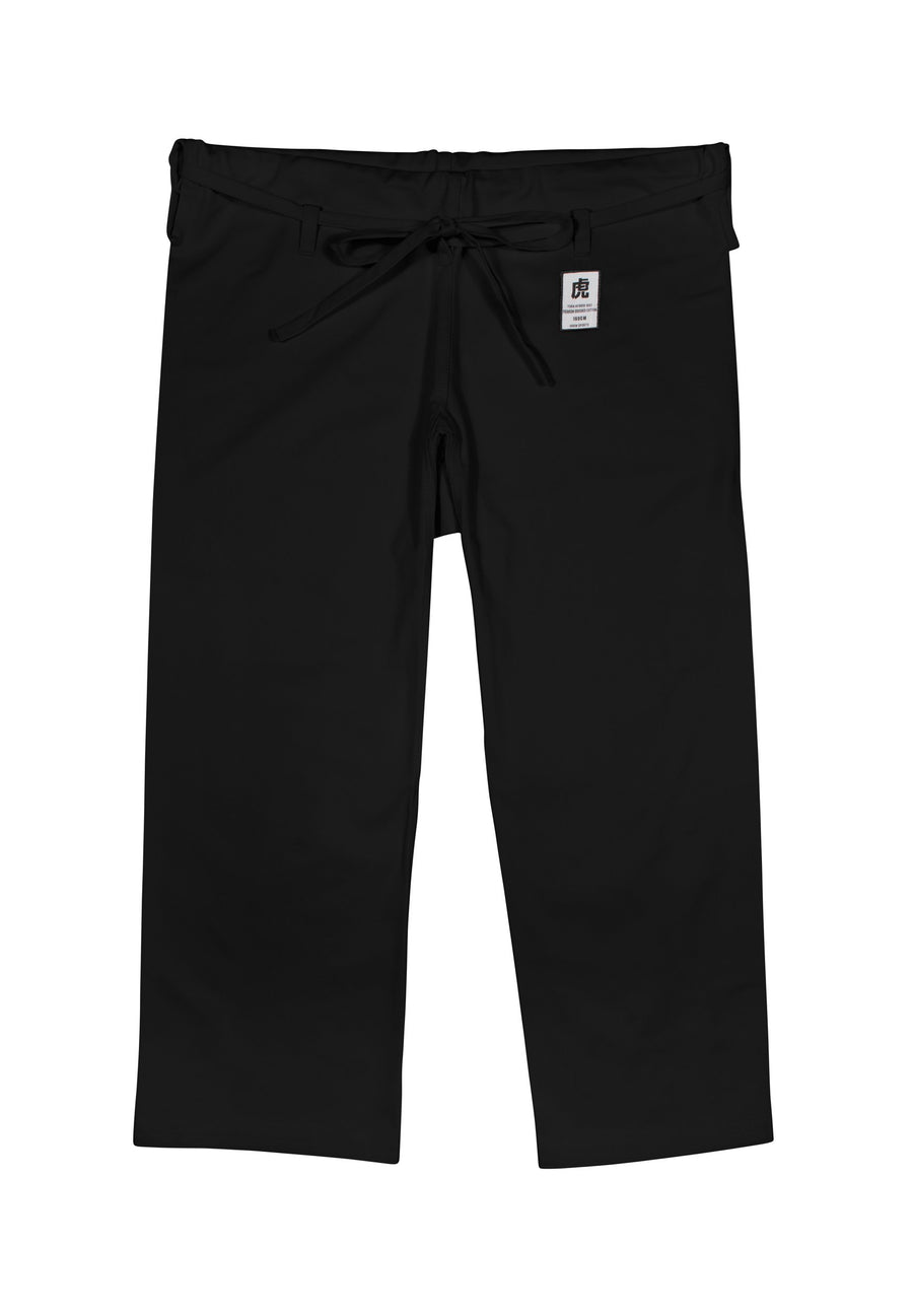 IKKEN Tora Karate Gi Trouser Pants | 8oz | White & Black | Japanese Cut