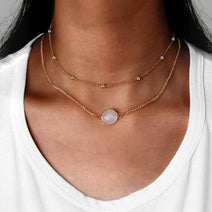 Limited Stone Choker Necklace