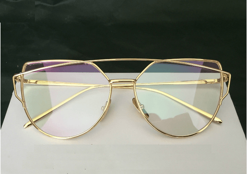 Limited Gold Transparent Glasses