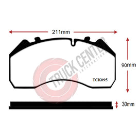 TCK095 - WVA 29095 Brake Pad Set