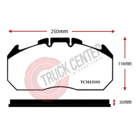 TCM131 - WVA 29131 Brake Pad Set (With Sensor )