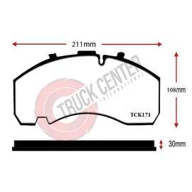 TCK171 - WVA 29171 Brake Pad Set