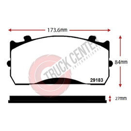 TCK183 - WVA 29183 Brake Pad Set